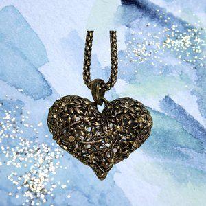 Heart Pendant Long Chain/Necklace